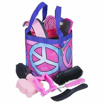 Tough-1 10 Piece Grooming Kit in Fun Prints Candy Peace