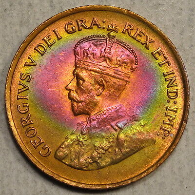 1920 Canada Cent, Choice Uncirculated, Amazing Original Toning