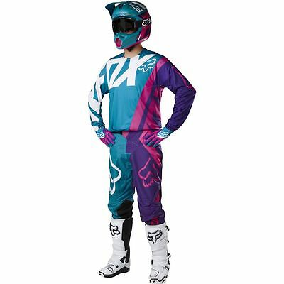 Fox Racing 360 Creo Teal Pant & Jersey Combo Motocross/MX/ATV/MTB Off Road Bike