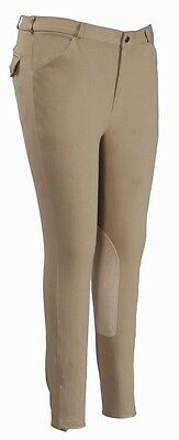 Tuffrider Men's Patrol Knee Patch Breech (Long) Beige 42 Mn