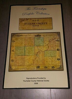 "1855  Maps of Butler County Ohio Townships Book 18"" × 11.75"""