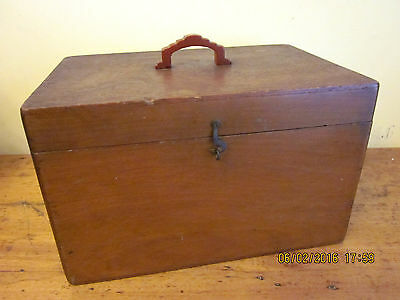 ~Vintage/antique Timber Box/case/cash Box/artist - Great Display Item - Gc~