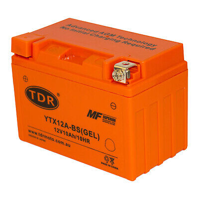 Replacement VTX9-BS YTX12A-BS 12V GEL DRY CELL BATTERY MOTORCYCLE MOTORBIKE
