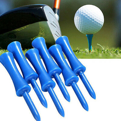 50X Durable Plastic Step Down Castle Golf Tees Height Control Blue Color 68mm