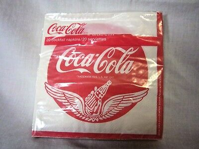 Coca Cola Cocktail Napkins Wings 5 x 5 inches 20 Count Pause Go Refreshed