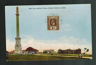1928 Colombo Ceylon Picture postcard Cover Victory Column