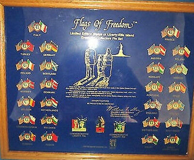 Flags Of Freedom Statue Of Liberty Coca Cola Limited Edition Pin Set