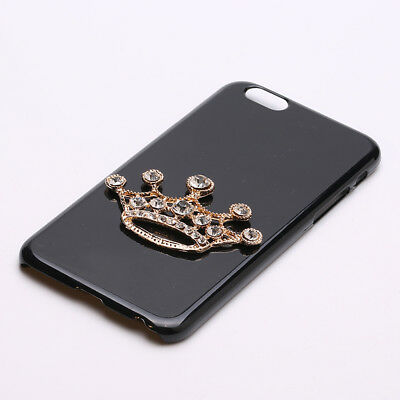 5pcs 3D Bling Cell Phone Case Dec Crown Rhinestone Diamantes Flackback Craft