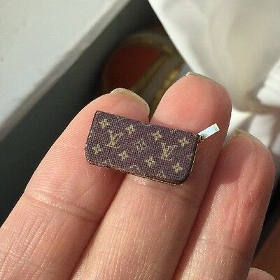 French Designer Handbag Wallet 1:12 Scale Fashion Accessory Dollhouse Miniatures