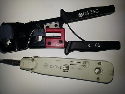 Cabac RJ86 Crimping Tool & Krone LSA Plus Punch Down Tool