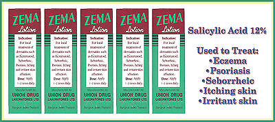 5 x ZEMA LOTION FOR DERMATITIS ECZEMATOID PSORIASIS ECZEMA TREATMENT ITCHING