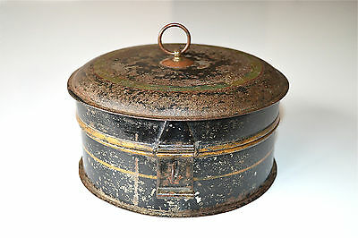 Original antique Georgian tin metal spice box circa.1800
