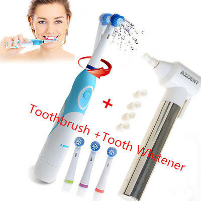 1 Pc Electric Toothbrush with 4 Brush Heads+1X Tooth Whitener Teeth Burnish DE