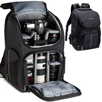 K&F Concept Camera Backpack Bag Waterproof for Canon Nikon Sony DSLR Rain Cover