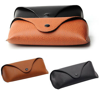 Vintage Handcrafted Soft Faux PU Leather Sunglasses Glasses Eyewear Case Box Bag