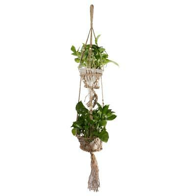 Macrame 4 Legs Plant Hanger Plant Holder Hanging Planter Pot Basket 120cm