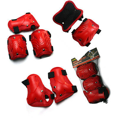 Roller Blading Wrist Elbow Knee Pad Blade Guard 6 pcs Set for Youth Kids XQ001