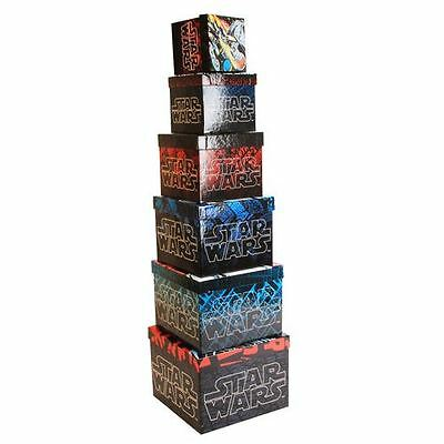 Disney - Star Wars Comic Book Style Set of 6 Square Boxes - 20cm - SW103 - New