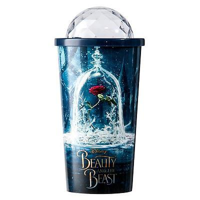 Beauty and the Beast Belle Rose Cup Travel Sipper Tumbler Cup Souvenir New