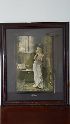 An Old Vintage Religious/Biblical Collectable Framed Print Hand Titled 'Hope'