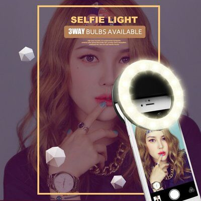 SG-11 Mini Rechargeable Phone LED Selfie Lamp Ring Light Night Using Light AU