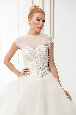 NEW Bridal Ivory / White Tulle Bolero Shrug Wedding Jacket   S/M - L/XL