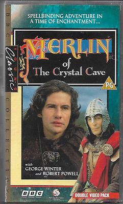 Merlin Of The Crystal Cave Double Vhs Video Pal Uk Format Bbc Robert Powell Vgc
