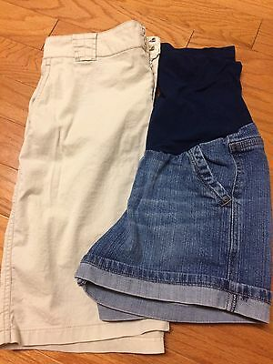 Lot of 2 Motherhoods Maternity sz S Shorts and Skirt