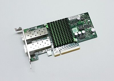 Supermicro AOC-STGN-i2S 10Gigabit 10GBe SFP+ Dual Port Server NIC Intel X520-DA2