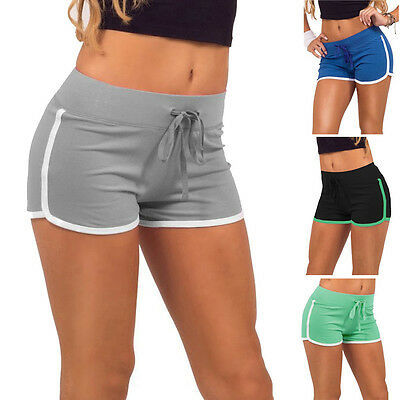 Women Summer Pants Sport Shorts Gym Workout Waistband Skinny Yoga Elastic Shorts