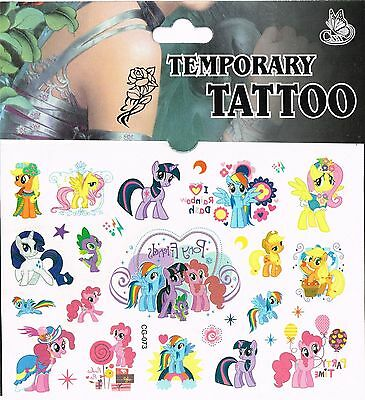 Kids Temporary Tattoos , My Little Pony Tattoos Party Bag  Bag Tattoo Stickers