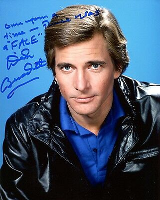 Autographe Dirk Benedict  Photo Dedicacee Agence Tous Risques Signed