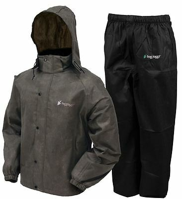 Frogg Toggs AS1310-105  Men's Stone / Black All Sport Rain Water Suit  All Sizes