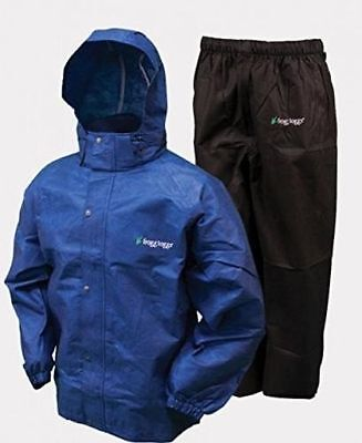 Frogg Toggs AS1310-112  Men's Royal / Black All Sport Rain Water Suit  All Sizes