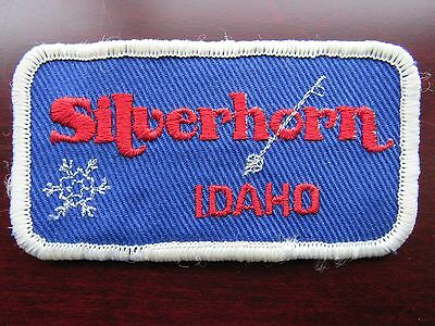Silverhorn Ski & Skateboard Resort Patch Badge Vintage Kellogg Idaho ID Silver