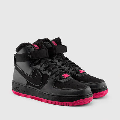 quality design 328fa 4c32e nike Air Force 1 High LV8 GRADE SCHOOL KIDS BLACK VIVID PINK FUR GS 807627