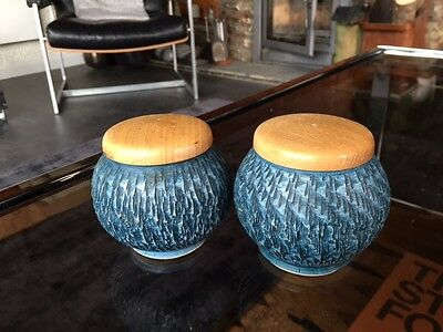 1960s 1970s Vintage Bristow Pottery Salt and Pepper