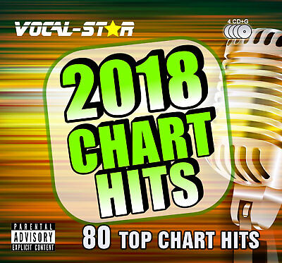 Vocal-Star 2017 Karaoke Chart Hits 80 Songs Cdg Cd+G 4 Disc Set - Inc Song Book