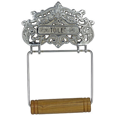 CHROME Victorian French Wall Mounted Toilet Paper Holder Antique Style