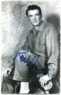 Rock Hudson (1925-1985) Scarce In Person Hand-Signed Photo