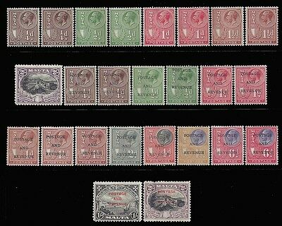 Malta Stamps 1926-1928 King George V Better Selection Mint £85/$107