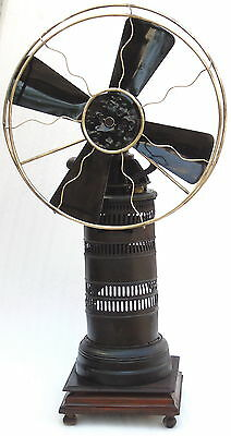 Super Rare Large Antique Kerosene Operated Steam Fan Vintage Museum Collectible
