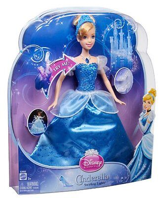 Disney Princess Swirling Lights SOUNDS Cinderella BARBIE Doll  NEW IN PACKAGE