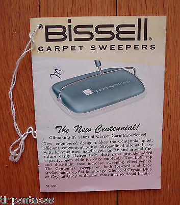 Vintage Bissell Carpet Sweepers Owner's Manual Product Guide Information