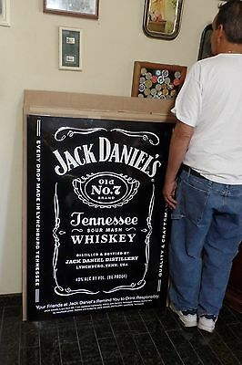 Jack Daniels Old No. 7 Label 4ft x 3 1/2ft Metal Wall Sign Bar Tennessee Whiskey