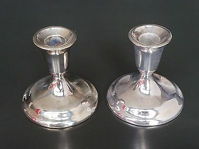 Wm. A Rogers Silver Candle Stick Holders - Includes Vintage Store Box