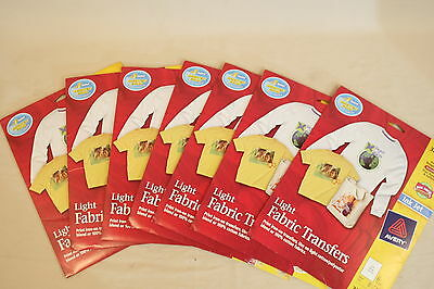 SEVEN PACKS of Avery 3271 Light Fabric Transfers - Ink Jet  (6 sheets per pack)