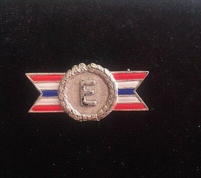 Vintage Sterling Silver Army Navy Production Award Pin / Brooch / Badge Flag