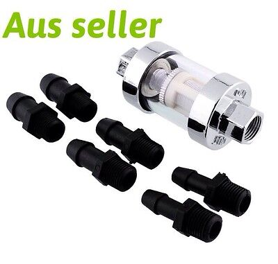 Fuel Filter  Universal Motorcycle, Bobber, ATV  Chrome Glass Universal