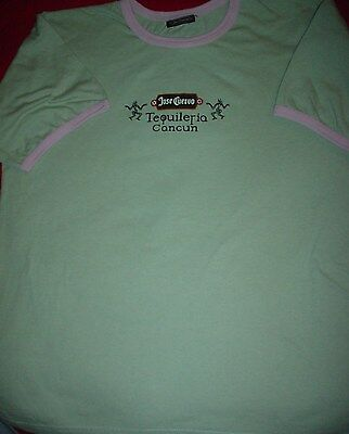 JOSE CUERVO Tequila Tequileria Cancun Mexico Ringer New Large L T SHIRT